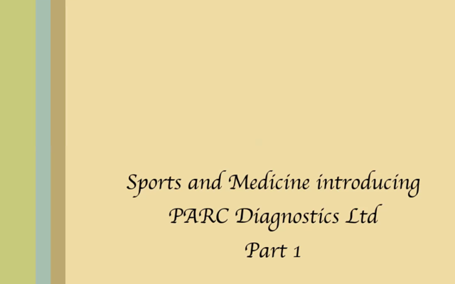 Sports and Medicine Interview - PARC Diagnostics LTD